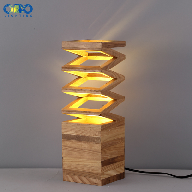 Modern Wood Spring Shape Table Lamp Simple Study Desk Light Room Bedroom Bedside Decoration Lighting E27 110 240V Free Shipping In Lamps From Lights