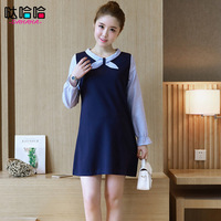 Maternity Clothes Girls Blouse Work Dress Preppy Style Formal Maternity Dresses Costumes For Pregnant Women Dark