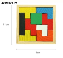 Colorful Wooden Tangram Brain Teaser Puzzle Toys Tetris Game Preschool Magination Intellectual Educational Kid Toy GYH