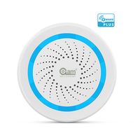 Z Wave Plus Audible Alarm Siren Wireless Home Automation Battery Powered Can Be Charged With USB