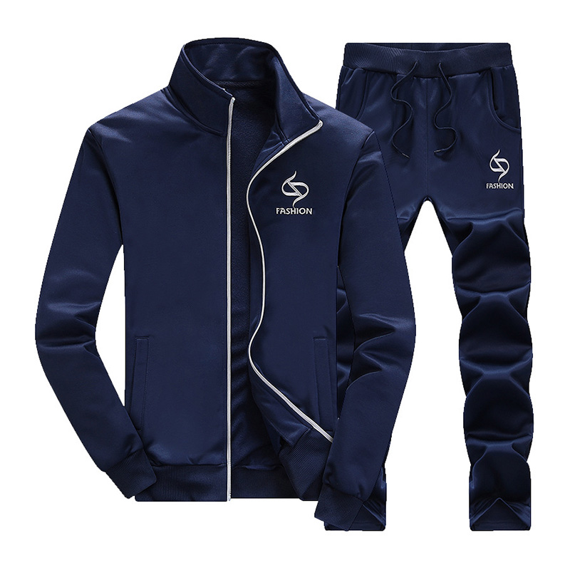 New Brand Fashion Spring Autumn Men Sportswear Set Jacket+Pant Sweatsuit 2 Piece Set Sportswear Tracksuit For Men Clothing
