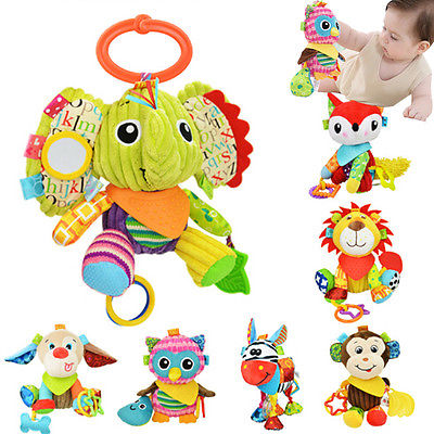 2017 New Baby Stuffed Artificial Plush Toy Gift Simulation Animal Lion Elephant Monkey Fox Dog Owl Stuffed KIds Soft Baby Toy amysh hot 4 colors 65cm long arm monkey from arm to tail plush toys colorful toy soft monkey curtains monkey stuffed animal doll