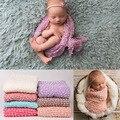 100*160 cm de Punto Wraps Envolturas Nacidos Telones de Fondo, Fondo, Recién Nacido Bebé Recién Nacido Fotografía Fotografia Props Manta