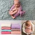 100*160cm Knit Wraps Newborn Wraps Newborn Baby Photography Backdrops Background Newborn Fotografia Blanket Props