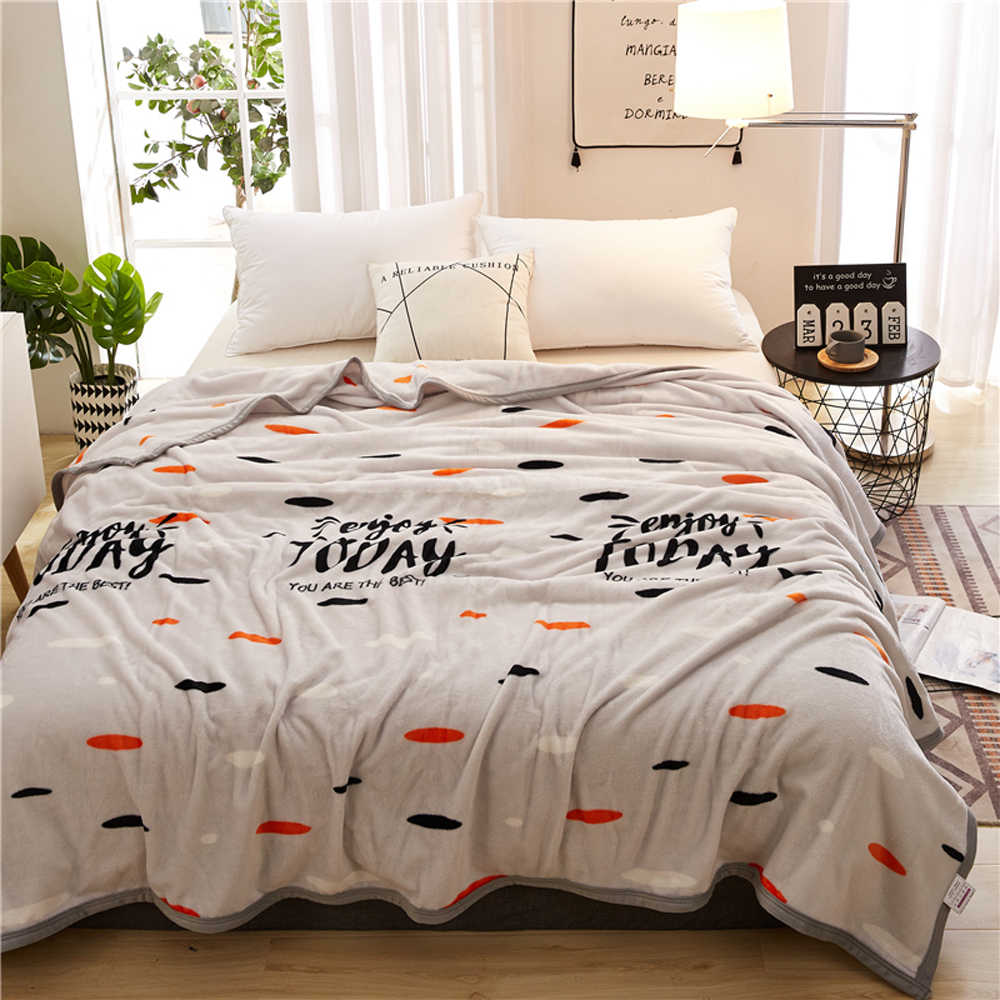 2018 Colorful Dots Grey Soft Summer Print Thin Blanket Little Throws Coral Fleece Microfiber Plaids Bedsheet Polyester