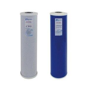 Substituição Do Filtro Pack Bloco De Carbono, Ferro Manganês Filtro De Redução para 2 Fase 20 Polegada Whole House Filtro de Água