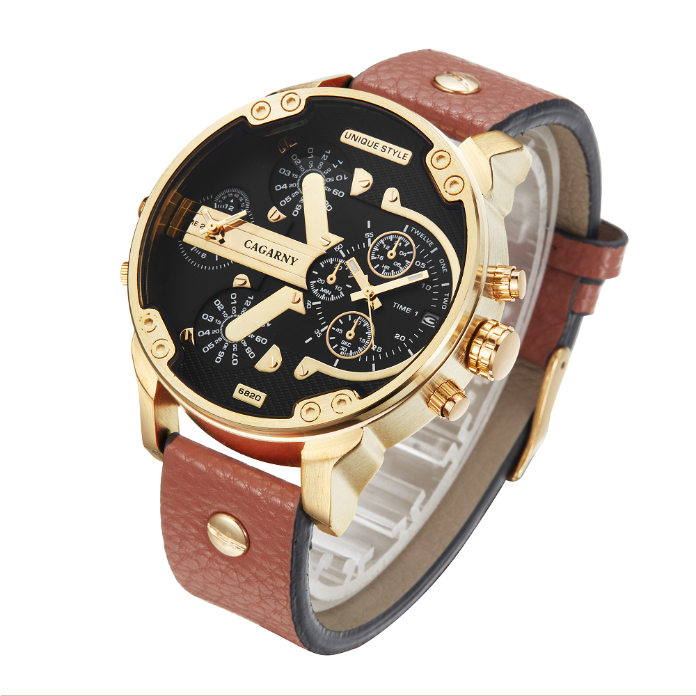 cagarny Gold Watch Mens Watches Top Brand Luxury Sport Men's Quartz Clock Military Wrist Watch Relogio Masculino Saat drop shipping (2)