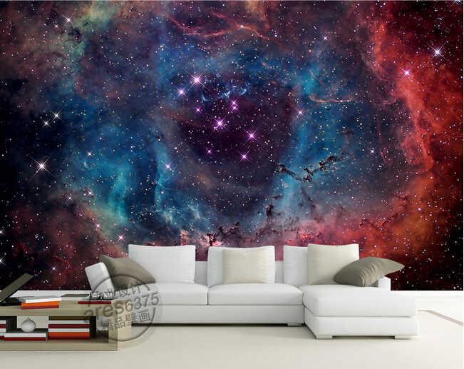 את יקום כוכבים 3d מותאם אישית ציורי קיר טפט papel דה פארדה עבור KTV בר מסעדת חדר שינה תקרת סלון טלוויזיה ספה קיר