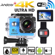 Andoer 4K 16MP WiFi Action Sports Camera Waterproof Camcorders Outdoor 1080P Full HD 4X Zoom Action Camera With Wide Angle Lens