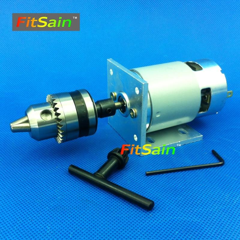 FitSain DC24V 8000 об/мин двигатель мини ручная дрель пресс dremel электрическая дрель B12 сверлильный патрон 1,5 ~ 10 мм шарикоподшипник