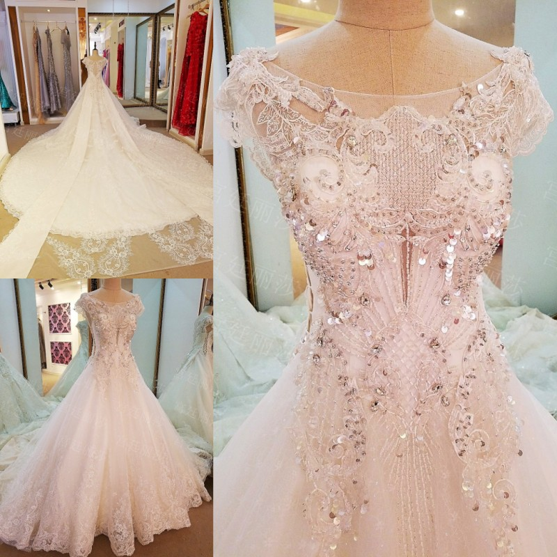 Online get cheap sparkly wedding dress for Sparkly beach wedding dresses