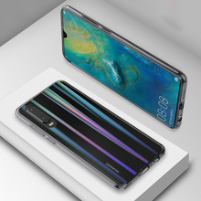 Luxury Gradient Glass Cover Case for Huawei P30 Pro Slim Transparent Aurora Laser Coque Lite Phone
