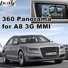 360 panorama & rear view interface para Audi A1 A4 A5 A6 A7 A8 Q3 Q5 Q7 3G MMI LVDS de entrada de sinal RGB ligação espelho apoio