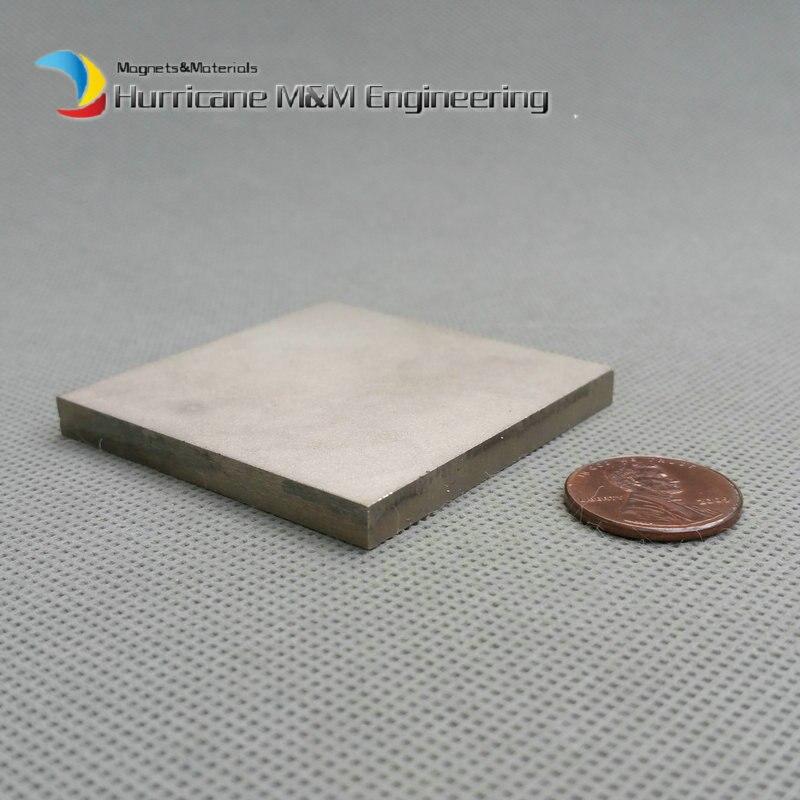 2 pcs SmCo Magnet Block 50x50x5 mm 2 Bar YXG24H, 350degree C High Temperature Mortor Magnet Permanent Rare Earth Magnets trouble magnet 2