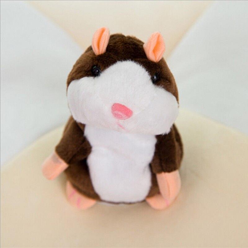 Мода США говорящий хомяк повторяет то, что вы говорите плюшевый хомяк повторяет кукла игрушка ребенок подарок - Цвет: Dark 15cm nod talk