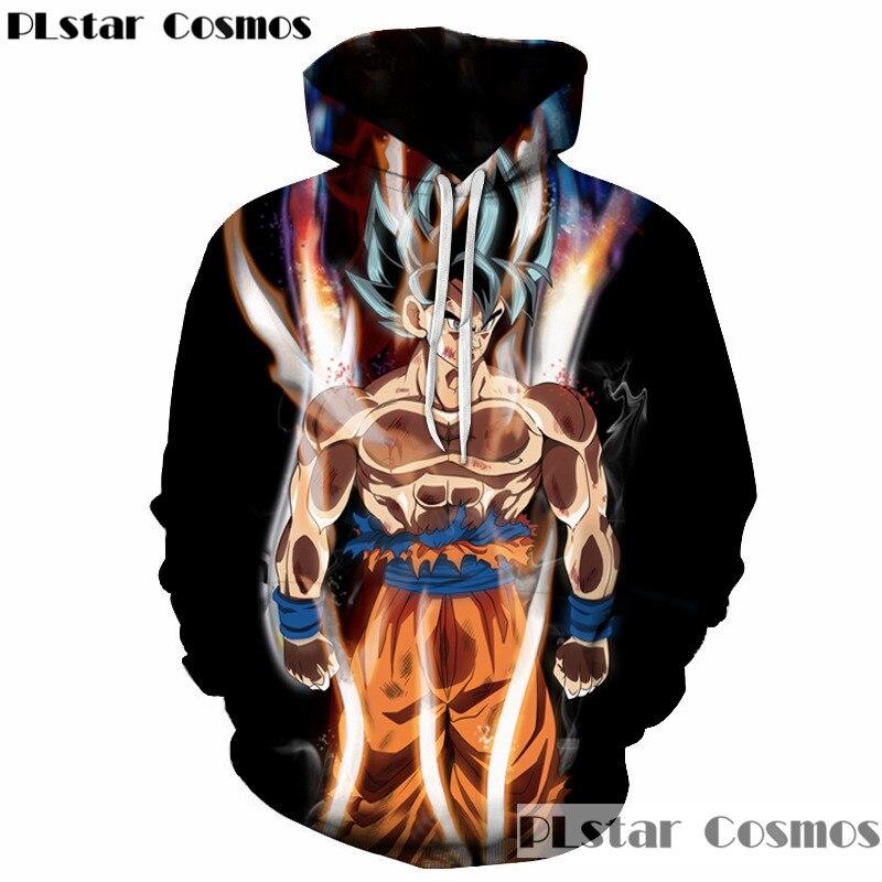 PLstar Cosmos Dragon Ball Z Hoodies 3d Hoodies Pullovers Sweatshirts Anime Funny Cartoon Sweatshirt 2018 New Design