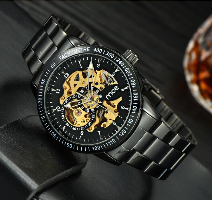 Brand Men watches Automatic Geometric design Mechanical Tourbillon Classic Watch Men Full Steel business WristWatch Man Relojes цена