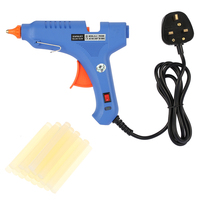 60W Hot Glue Gun Industrial Hot Melt Glue Machine + 20pcs Glue SticksThermo Electric Heat Temperature Repair Tool