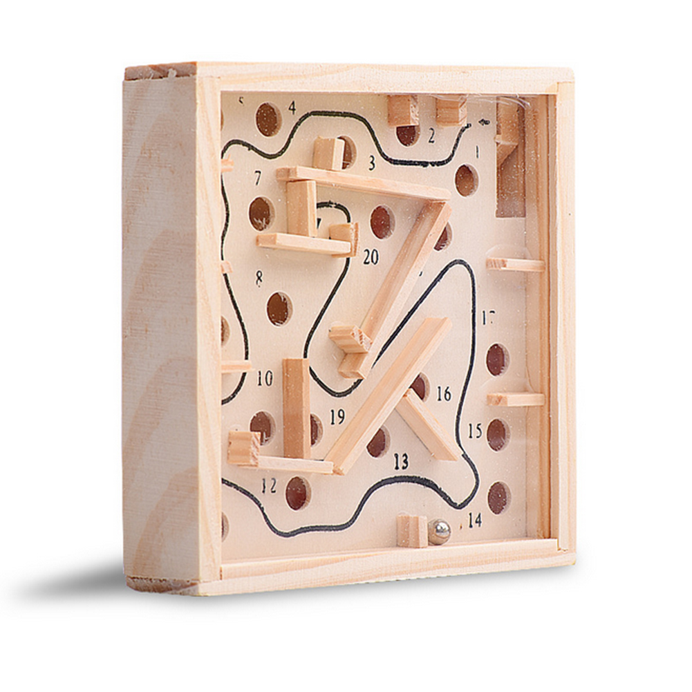 Mini Wooden Labyrinth Board Game Ball In Maze Puzzle Handcrafted Toys New Children Educational Toys Antistress Toy