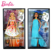Original Barbie Doll Limited Joints Movable Fashion Box Street Beat Style Girl Toy Birthday Present Girl Toys Gift Boneca original barbie doll butterfly ylamour limited collector s edition toy girl birthday present girl toys gift boneca x8270
