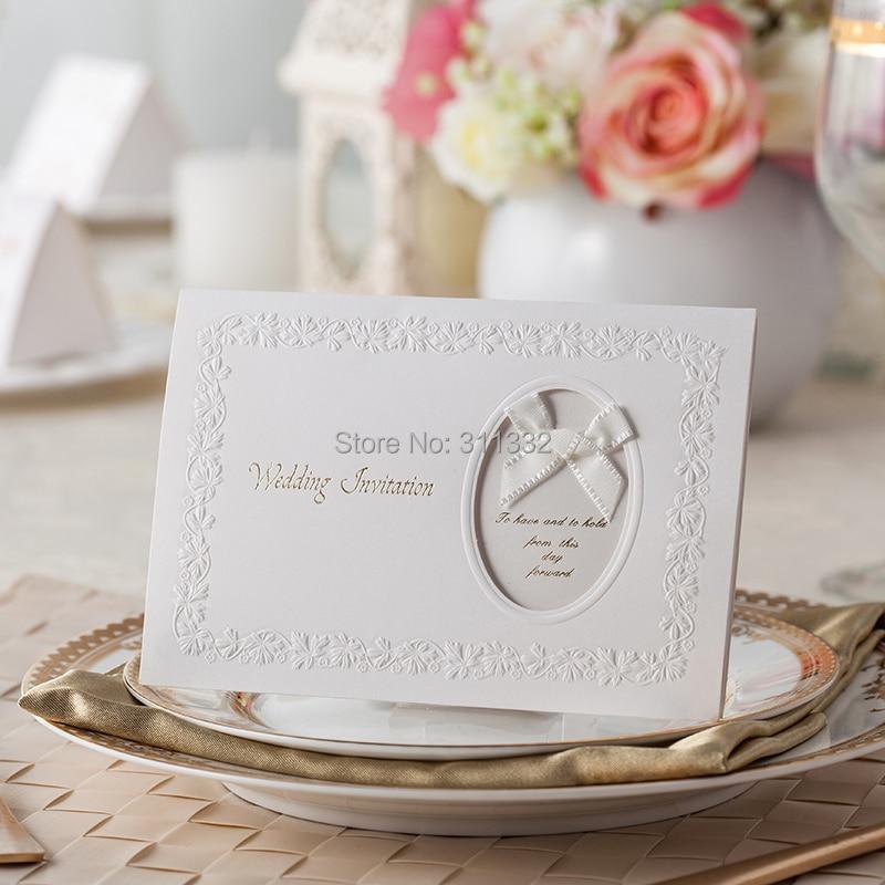 Leaf embossing Frame decoration design, Fashion Wedding invitation ...