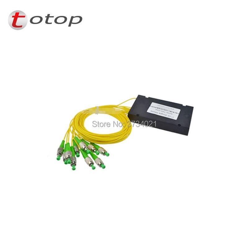 Connecteur optique de répartiteur de Fiber optique de boîte de l'abs FC APC 1X10, ABS FC APC