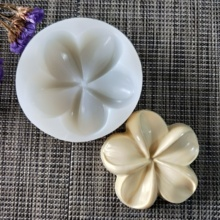 HC0119 silicone mold soap flower feather pentagonal handmade candle