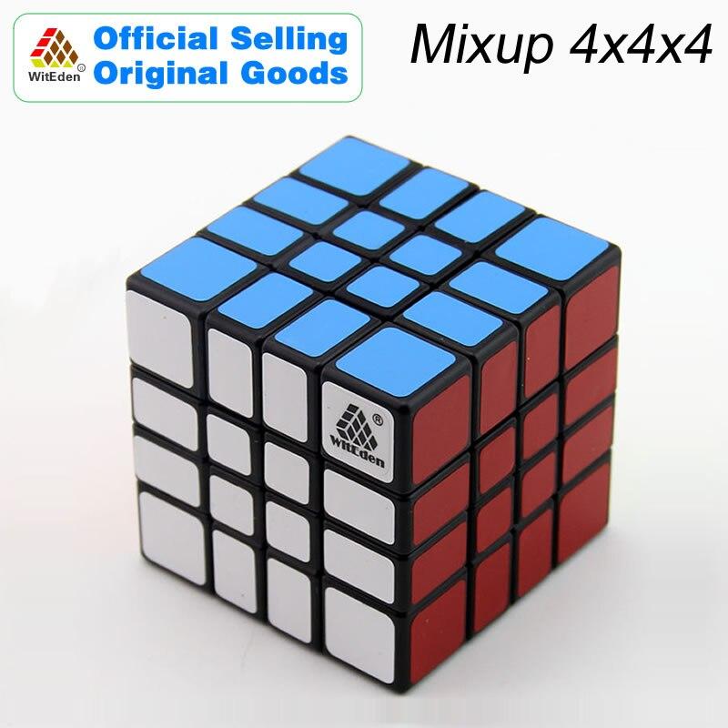 WitEden i Oskar Mixup 4x4x4 magiczna kostka 4x4 Cubo Magico profesjonalne prędkość Neo kostki puzzle Kostka antystresowe Fidget zabawki dla chłopca