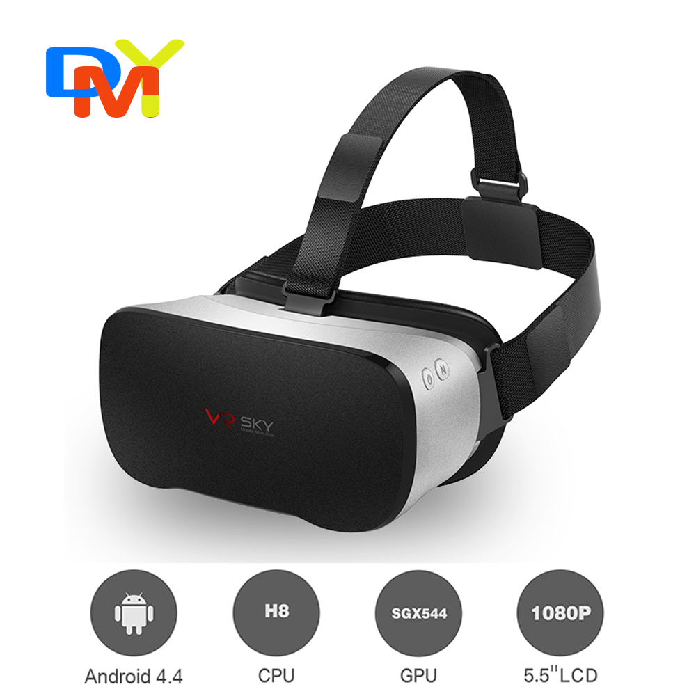 V3 All In One Headset VR box Octa Core 5.5 Inches bluetooth 1080P FHD Display VR Immersive 3D Glasses Virtual Reality Headset