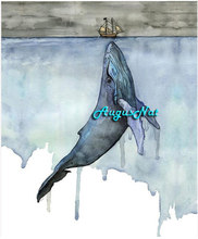 dolphin diamond painting cross stitch animals wall art boat decor diamond dots picture scenery diamond embroidery stickers craft(China)