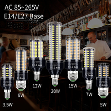 E14 LED Corn Bulb 220V Ampoule Led Lamp E27 Light Bulbs SMD5736 No Flicker Chandelier Candle Light 28 40 72 108 132 156 189 LEDs