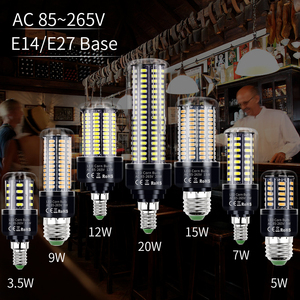 E14 LED Corn Bulb 220V Ampoule Led Lamp E27 Light Bulbs SMD5736 No Flicker Chandelier Candle Light 28 40 72 108 132 156 189 LEDs
