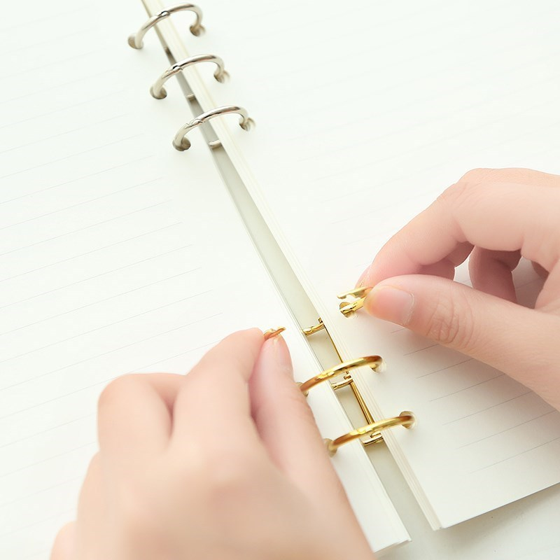 2pcs Metal Loose Leaf Notebook Binder Rings Album Scrapbook Clip Craft Photo Album Metal Ring Binder Desk Calendar Circle