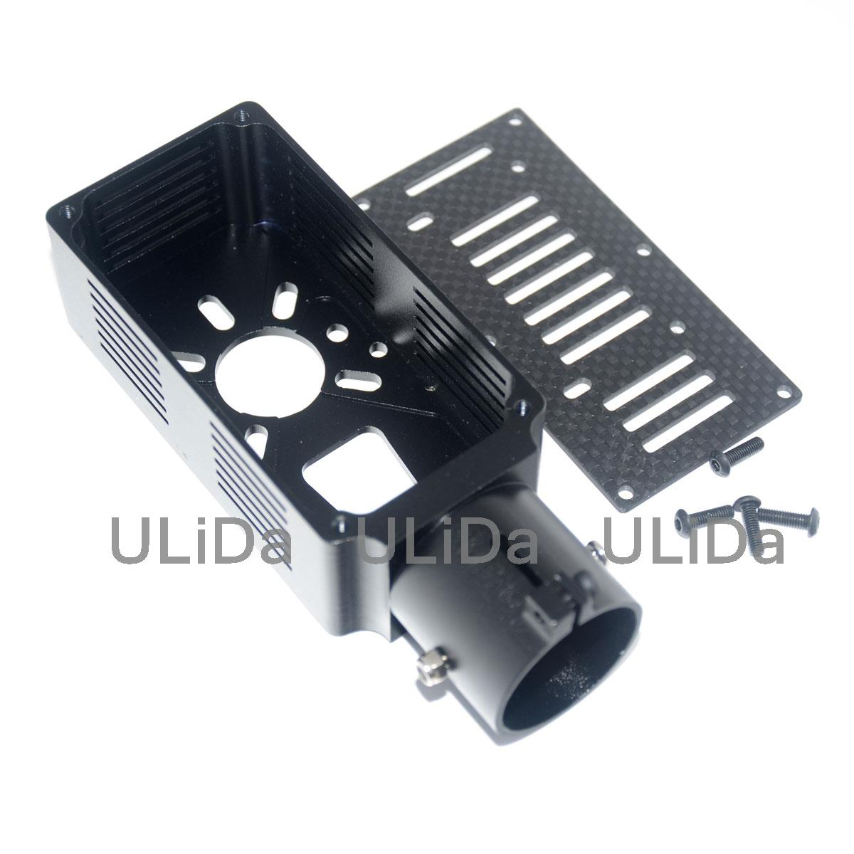 30mm CNC Aluminum Aerial Plant Protection UAV Motor Mount Holder for W9235 Q9XL 2pcs plant protection agricultural machine repair parts 30mm diameter of the carbon tube aluminum motor housing motor mount