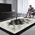 Schwarz und weiß luxus rindsleder patch arbeit teppich  große größe natürliche kuh haut pelz teppich für wohnzimmer dekoration büro teppich|Teppich|Heim und Garten -