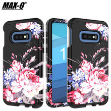 Classical Retro Flowers TPU + PC Phone Back Cover Case For S