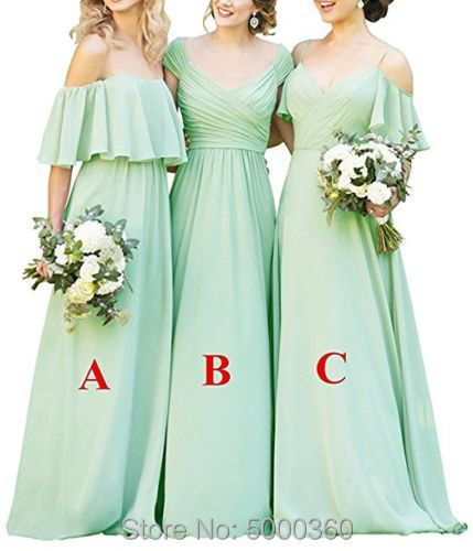 2019 Covertible   Bridesmaid     Dresses   Pleated Floor length Country Beach Wedding Guest Party Gowns Cheap Long Prom