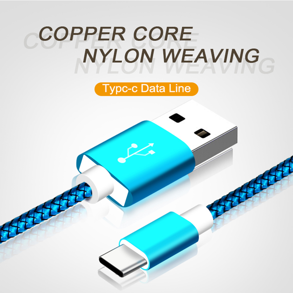30 pcs USB Type C Cable Fast Charging USB C Cable for Samsung Galaxy S9 S8 Oneplus 6 Nylon Braided Data Sync Type-C Phone Cable