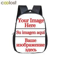 12 بوصة تخصيص شعارك اسم الصورة الصغار الكرتون رياض الأطفال الحقائب المدرسية طفل أطفال هدية حقائب