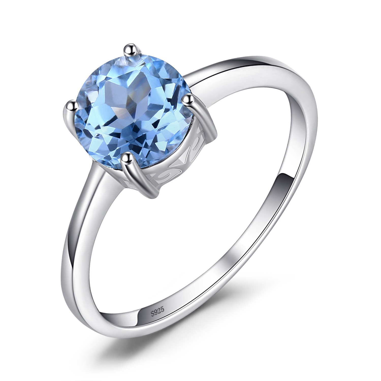 Hutang Stone Jewelry 2 73ct Natural Gemstone London Blue Topaz Solid