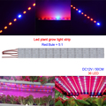50pcs*0.5m 5630smd Led bar rigid strip DC12V grow light for aquarium hydroponics grow lights strips red:blue 3:1 / 5:1 strips