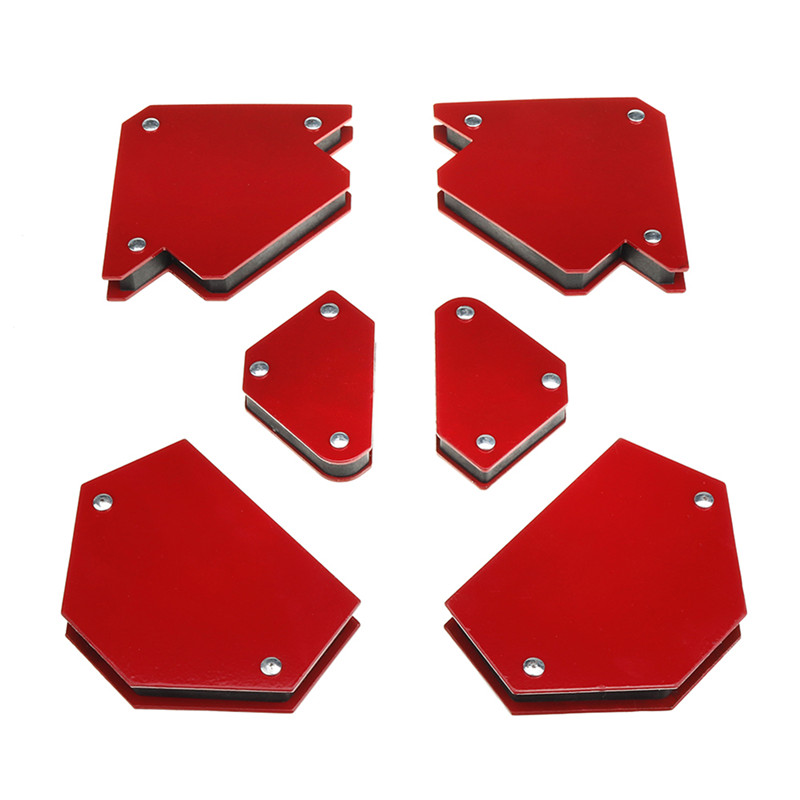 6pcs Triangle Welding Positioner Magnetic Fixed Angle Soldering Locator Welding Accessories Without Switch Durable