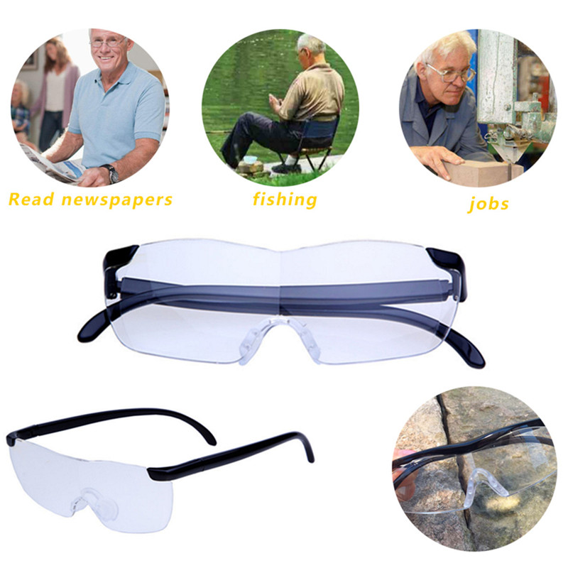 Big Vision Unisex 250% Magnifying Glass Magnification Unisex Eyewear Reading Glasses Magnifier Reading Lightweight Glasses