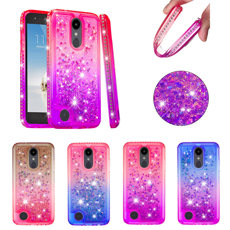 Luxury Bling Diamond Quicksand Case Soft Tpu Silicone Cover Hull Shell Coque Fundas For Lg K8 2018 Us Stylo 4 V40 Thinq X Power3 Limpid In Sight Cellphones & Telecommunications Rhinestone Cases