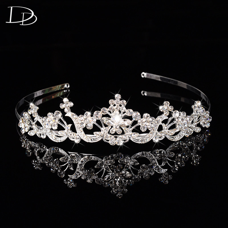 luxury vintage princess crown for women bridal tiara wedding hair accessories 585 gold color jewelry party gifts bijoux HF017