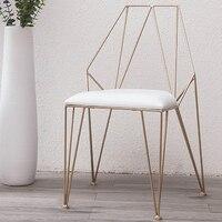 2019 новый металл Сталь стул отдыха Железная проволока Председатель полый для обеда и кофе металлические барные стулья Гостиная мебель 2 Стил