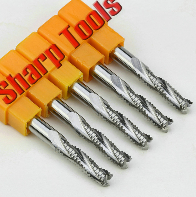 6x22mm 3 Flutes Roughing End Mill CNC Aluminium MDF Wood Router Bits ...
