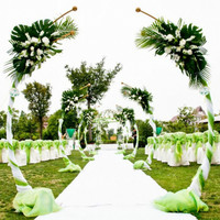 Customized DIY Wedding Decor Wrought Iron Ring Arch Background Arc Shape Arch Door Outdoor Lawn Silk Flower Door Shelf Stand