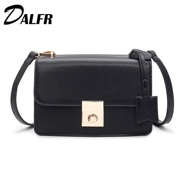 8fdecedf618 DALFR PU Leather Messenger Bag Women Bag 2018 Fashion Shoulder Bag Female  Crossbody Small Bag Luxury