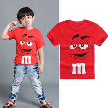 IMCUTE Childrens Red Cartoon T-Shirts Kids Boys Cotton Short Sleeve Letter Top Clothes